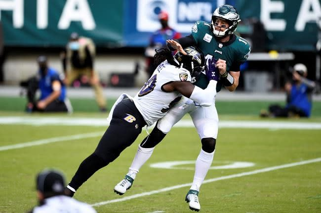 Depleted Eagles nearly pull off big comeback against Ravens
