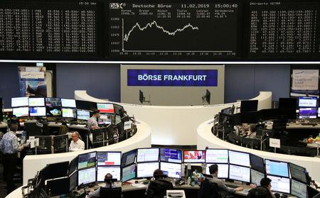 The German share price index DAX graph is pictured at the stock exchange in Frankfurt, Germany, February 11, 2019.    REUTERS/Staff