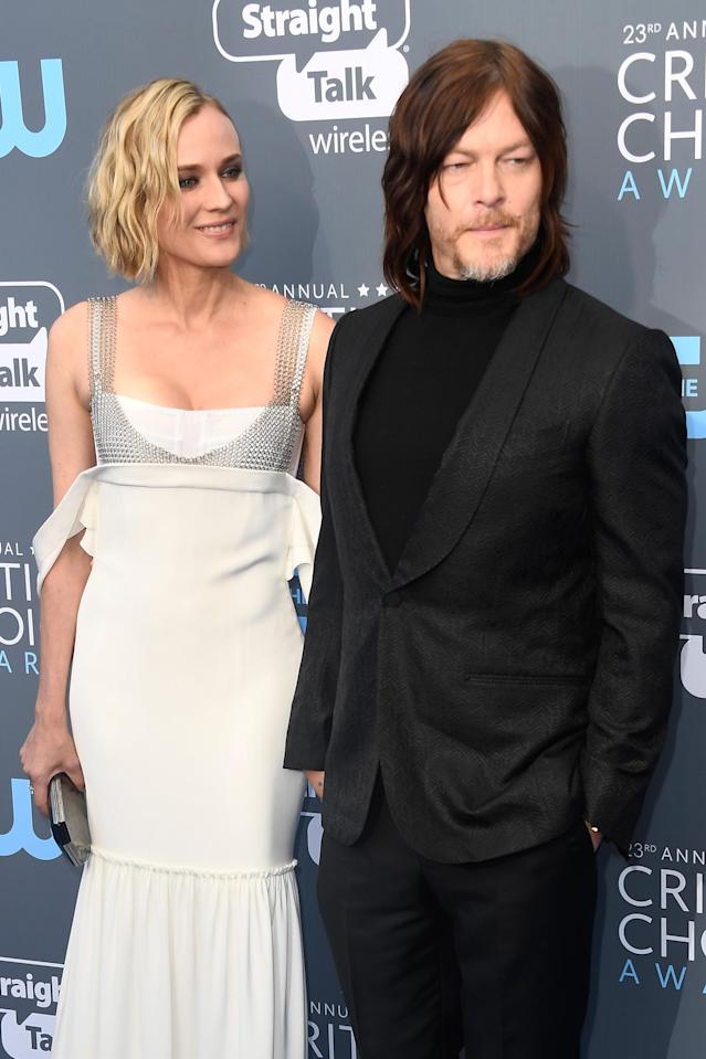 Diane Kruger and Norman Reedus at the Critics' Choice Awards in January. (Photo: Frazer Harrison/Getty Images)