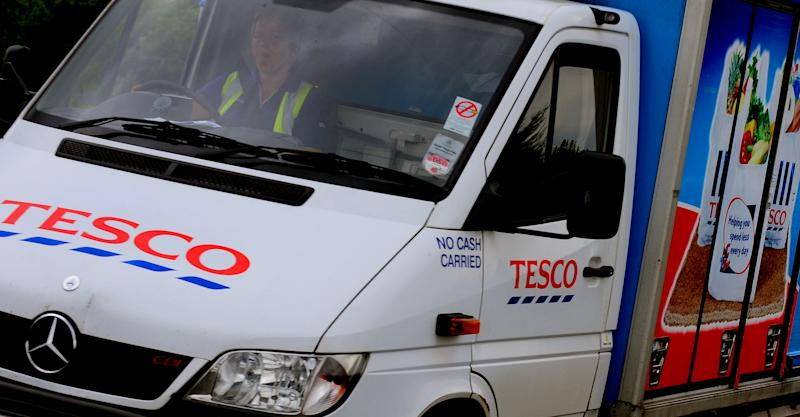 A Tesco home Delivery van. (Rui Vieira/PA Wire)