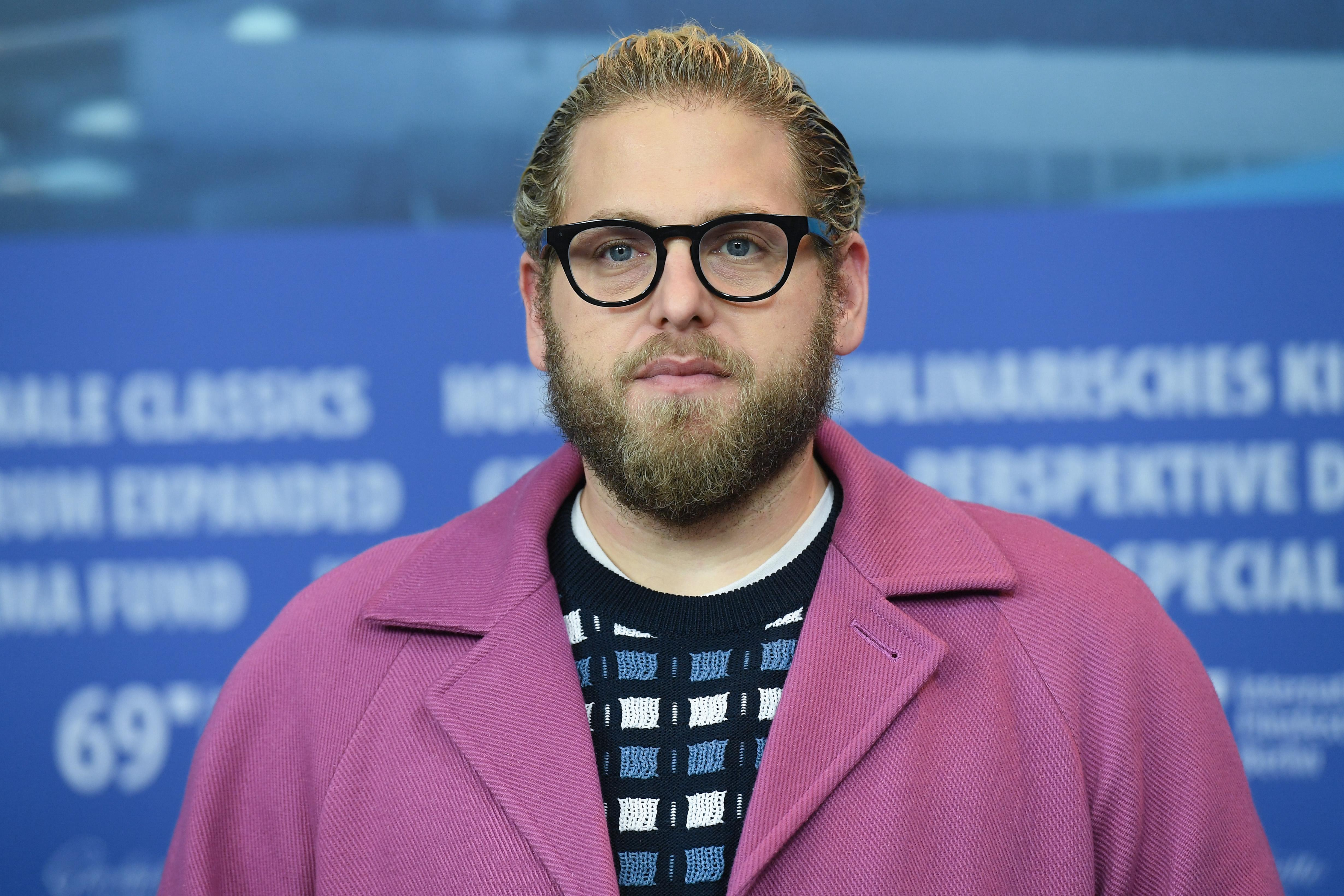 "Jonah Hill attends the ""Mid 90's"" press conference during the 69th Berlinale International Film Festival. (Photo by Stephane Cardinale - Corbis/Corbis via Getty Images)"