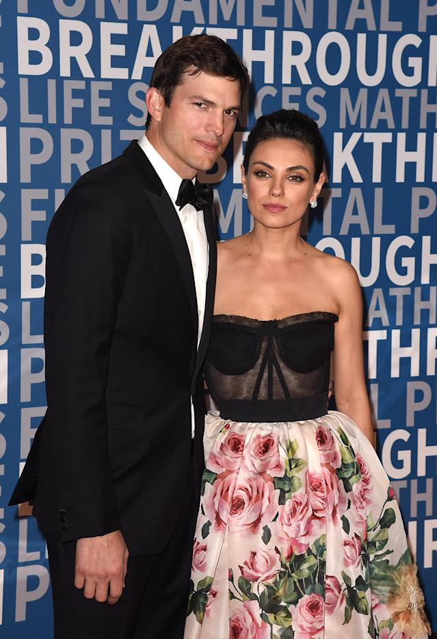 Ashton Kutcher and Mila Kunis at NASA Ames Research Center on Dec. 3 in Mountain View, Calif. (Photo: Getty Images)