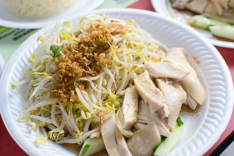 Beansprouts and chicken