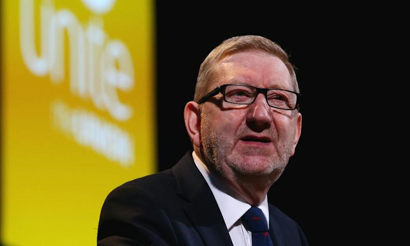 Len McCluskey is running for re-election as leader of Unite.