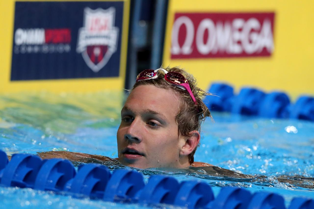 <p>Inspired by Ryan Lochte to swim at the University of Florida, Caeleb Dressel has broken NCAA, American and U.S. Open records. His 50-yard free swim in the March 2016 SEC Championships was the fastest in history, at 18.39 seconds. (Getty) </p>