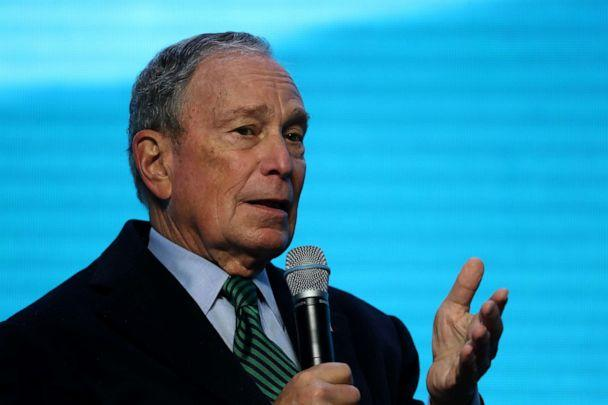 PHOTO: Democratic presidential candidate former New York City mayor Michael Bloomberg speaks during a discussion about climate change with former California Gov. Jerry Brown during a conference on Dec. 11, 2019 in San Francisco. (Justin Sullivan/Getty Images)