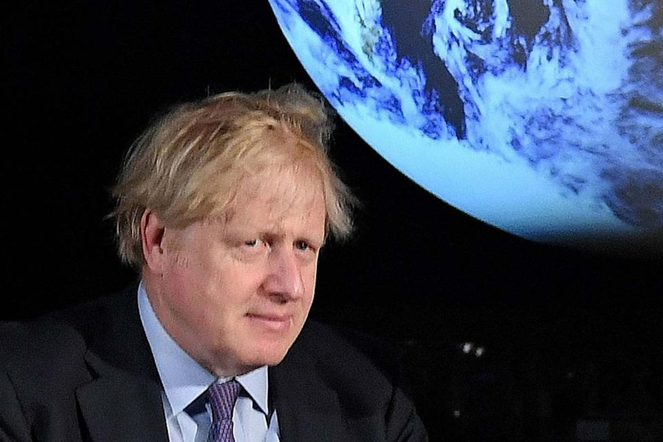 Prime Minister Boris Johnson during an event to launch the 2019 United Nations Climate Change conference: POOL/AFP via Getty Images