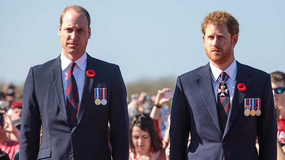 Prince William stands beside Prince Harry