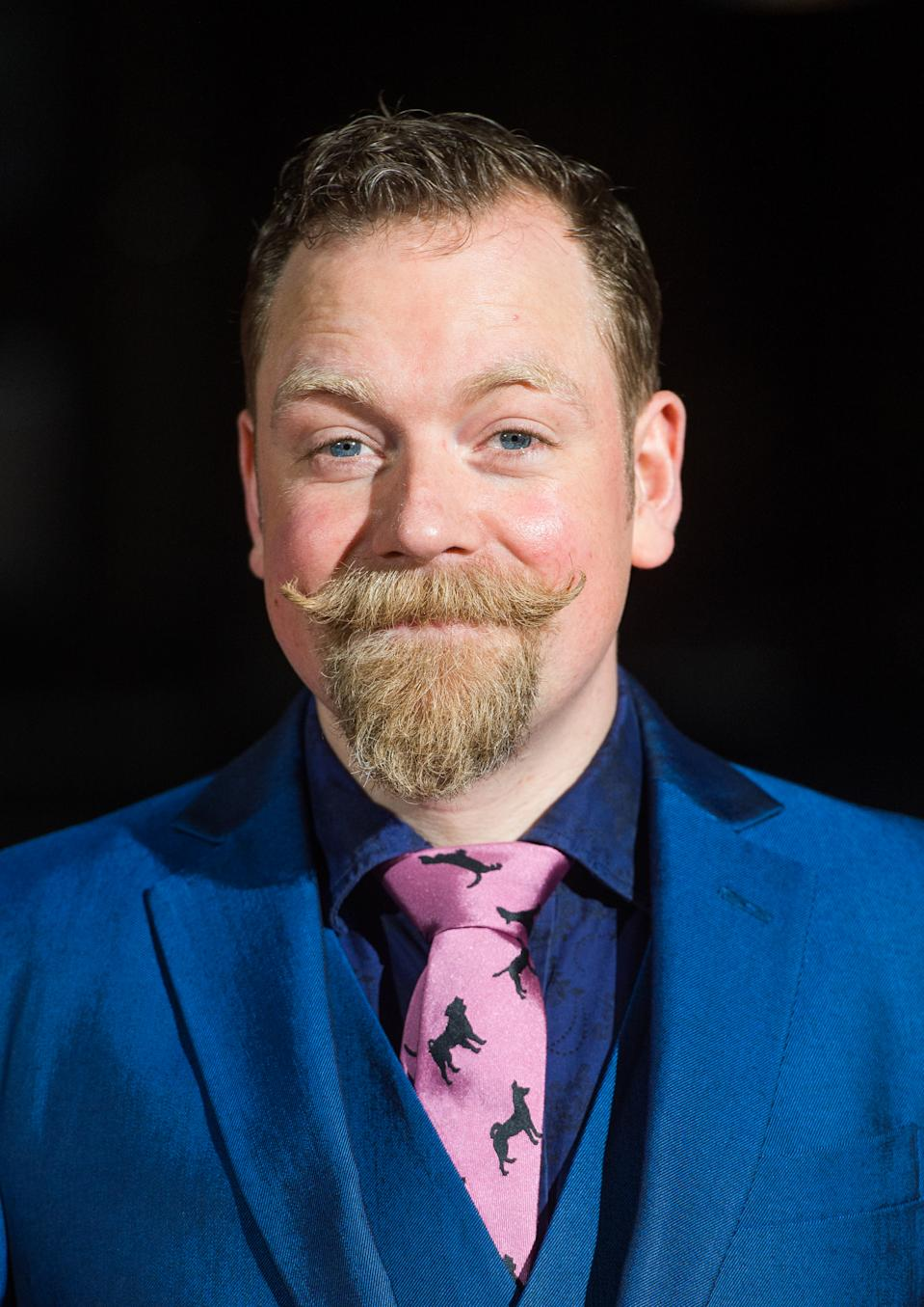 LONDON, ENGLAND - MARCH 12: Rufus Hound attends the BAFTA Games Awards at Tobacco Dock on March 12, 2015 in London, England. (Photo by Samir Hussein/WireImage)
