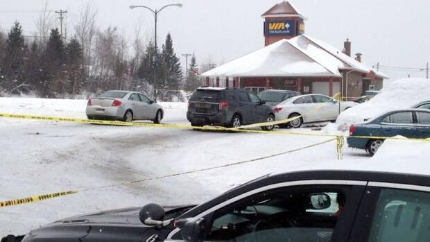 The Via Rail train station in Bathurst was cordoned off for a week following the January 2015 shooting death of Michel Vienneau. (Bridget Yard/CBC - image credit)