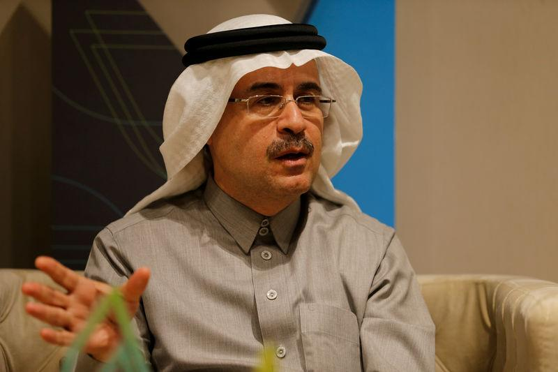 FILE PHOTO: The chief executive of Saudi Aramco, Amin Nasser, speaks during an interview with Reuters in Dhahran