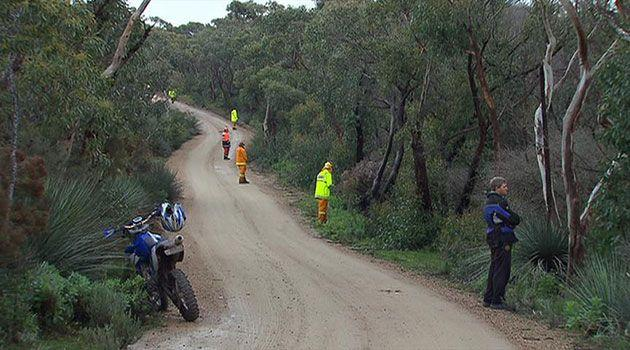 Police mounted a huge search on Saturday night looking for 7yo Simon. Photo: 7News.