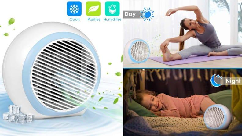 Build your own environment with this compact air cooler.