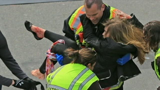 First responders and fellow runners rushed to aid victims, some of whom had lost limbs.