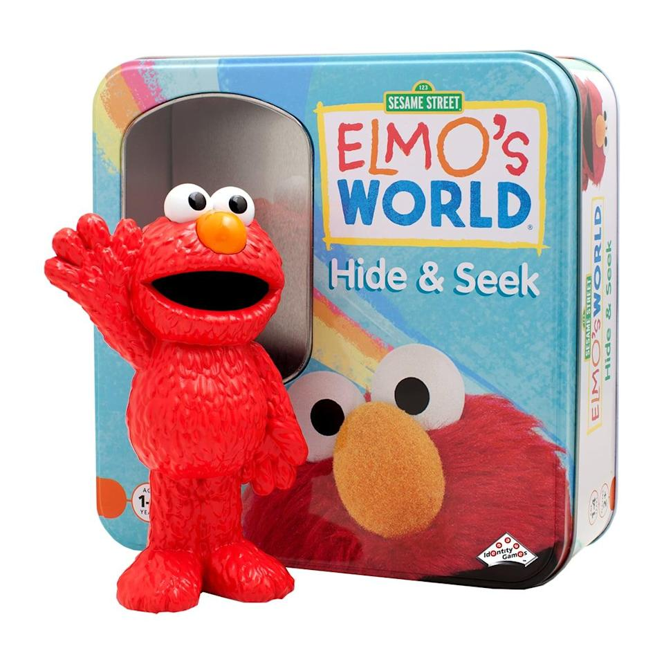 "<p>Little ones will love playing the interactive <a href=""https://www.popsugar.com/buy/Elmo-Hide-Seek-Game-86490?p_name=Elmo%27s%20Hide%20and%20Seek%20Game&retailer=amazon.com&pid=86490&price=18&evar1=moms%3Aus&evar9=25800161&evar98=https%3A%2F%2Fwww.popsugar.com%2Fphoto-gallery%2F25800161%2Fimage%2F44870084%2FElmo-Hide-Seek-Game&list1=gifts%2Choliday%2Cgift%20guide%2Cparenting%2Ckid%20shopping%2Choliday%20for%20kids%2Cgifts%20for%20toddlers%2Cbest%20of%202019&prop13=api&pdata=1"" class=""link rapid-noclick-resp"" rel=""nofollow noopener"" target=""_blank"" data-ylk=""slk:Elmo's Hide and Seek Game"">Elmo's Hide and Seek Game</a> ($18), where they have to find Elmo hidden somewhere in the house.</p>"