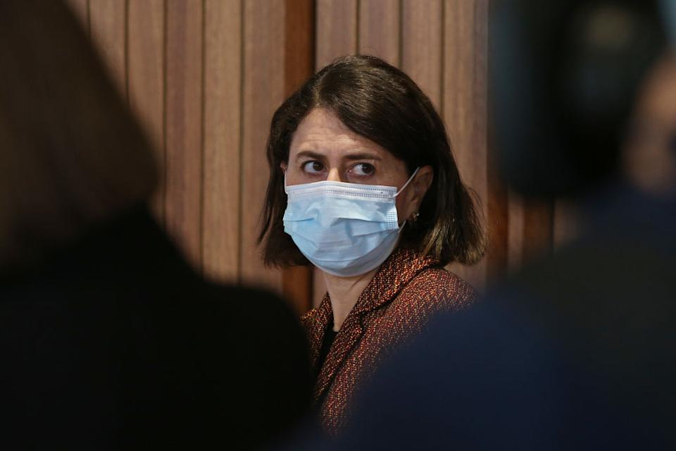 Gladys Berejiklian at a press conference. Source: Getty Images