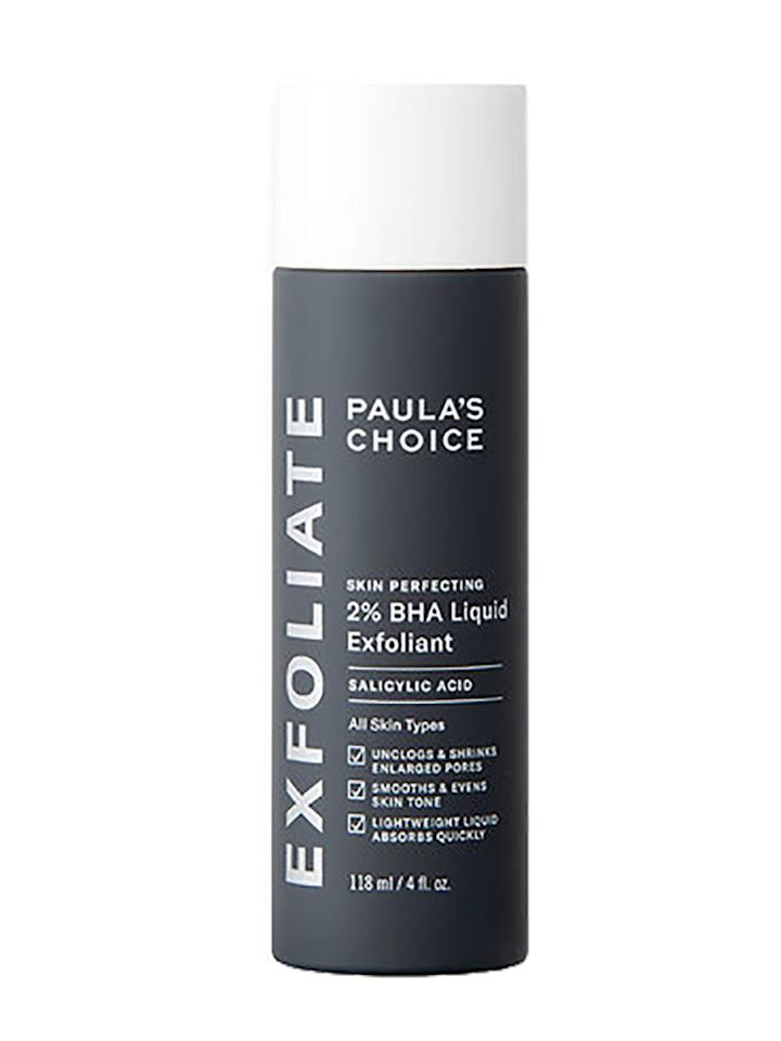 """<p>This is perhaps Paula's Choice Skincare's best-known product, frequently being touted as a skin-smoothing powerhouse. Featuring 2 percent salicylic acid, a tiny beta hydroxy acid (BHA) that can slip deep into pores to clean them out, the toner not only combats acne but also reduces the appearance of pores, diminishes fine lines, and reduces redness. Reviewers say the BHA toner works well on stubborn bumps and is a """"must-have skincare product,"""" especially for oily, acne-prone, and sensitive skin. </p> <p><strong>To buy:</strong> $24 (was $30); <a href=""""http://www.anrdoezrs.net/links/7876406/type/dlg/sid/RS%2CNearly100ProductsFromThisReddit-LovedSkincareBrandAreonSale%25E2%2580%2594TheseArethe5WorthBuying%2Cmgandara805%2CSKI%2CIMA%2C671747%2C201908%2CI/http://www.dermstore.com/product_SKIN+PERFECTING+2+BHA+Liquid+Exfoliant_54641.htm"""" target=""""_blank"""">dermstore.com</a>.</p>"""