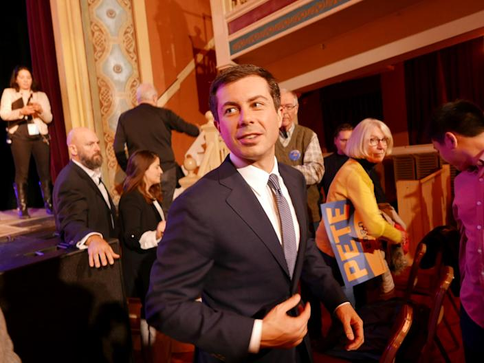 South Bend, Ind., Mayor Pete Buttigieg on a campaign sweep through New Hampshire on Nov. 11. (Photo: Hunter Walker/Yahoo News)