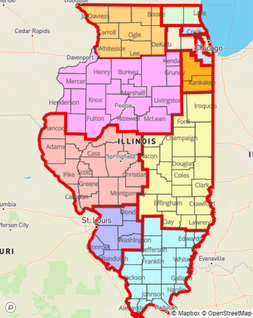 Restrictions were added to 10 of Illinois' 11 COVID-19 resurgence mitigation regions in October after coronavirus metrics triggered fail-safe measures established over the summer by state public health officials. (Illinois Department of Public Health)