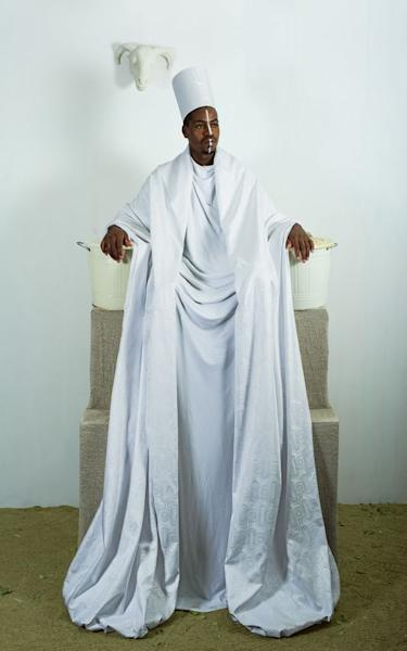 "Maimouna Guerresi, ""Throne in White,"" 2016"