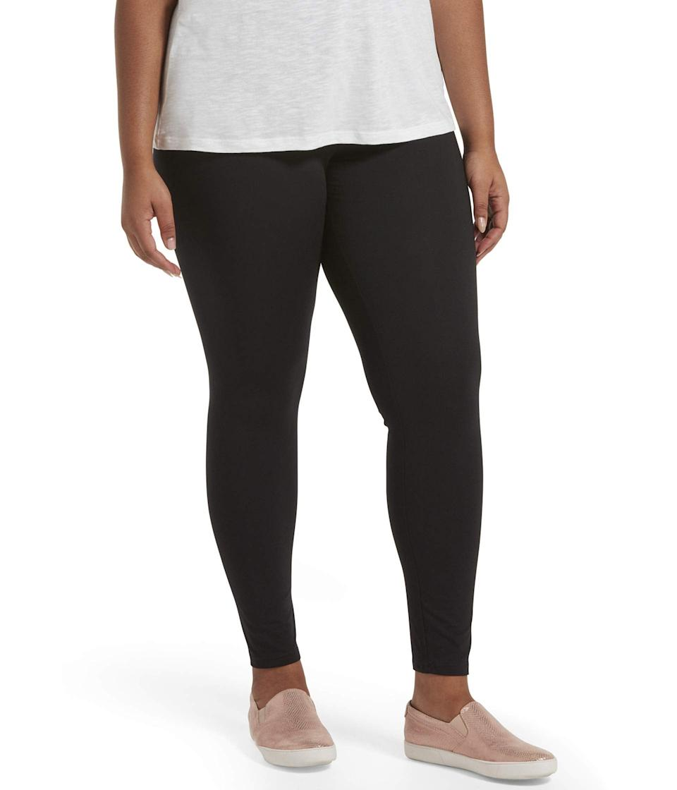 "<h3><a href=""https://www.zappos.com/p/hue-plus-size-travel-wide-waistband-cotton-high-waist-leggings-black/product/9402752/color/3"" rel=""nofollow noopener"" target=""_blank"" data-ylk=""slk:Hue Plus Size Travel Cotton Leggings"" class=""link rapid-noclick-resp"">Hue Plus Size Travel Cotton Leggings</a></h3><br>If these bottoms were designed to accompany you around the globe, they can definitely keep you feeling fine set up at the kitchen bar. The stretch-cotton construction and high-and-wide waistband are definitely a winning combo. <br><br><strong>HUE</strong> Travel Wide Waistband Cotton High-Waist Leggings, $, available at <a href=""https://go.skimresources.com/?id=30283X879131&url=https%3A%2F%2Fwww.zappos.com%2Fp%2Fhue-plus-size-travel-wide-waistband-cotton-high-waist-leggings-black%2Fproduct%2F9402752%2Fcolor%2F3"" rel=""nofollow noopener"" target=""_blank"" data-ylk=""slk:Zappos"" class=""link rapid-noclick-resp"">Zappos</a>"