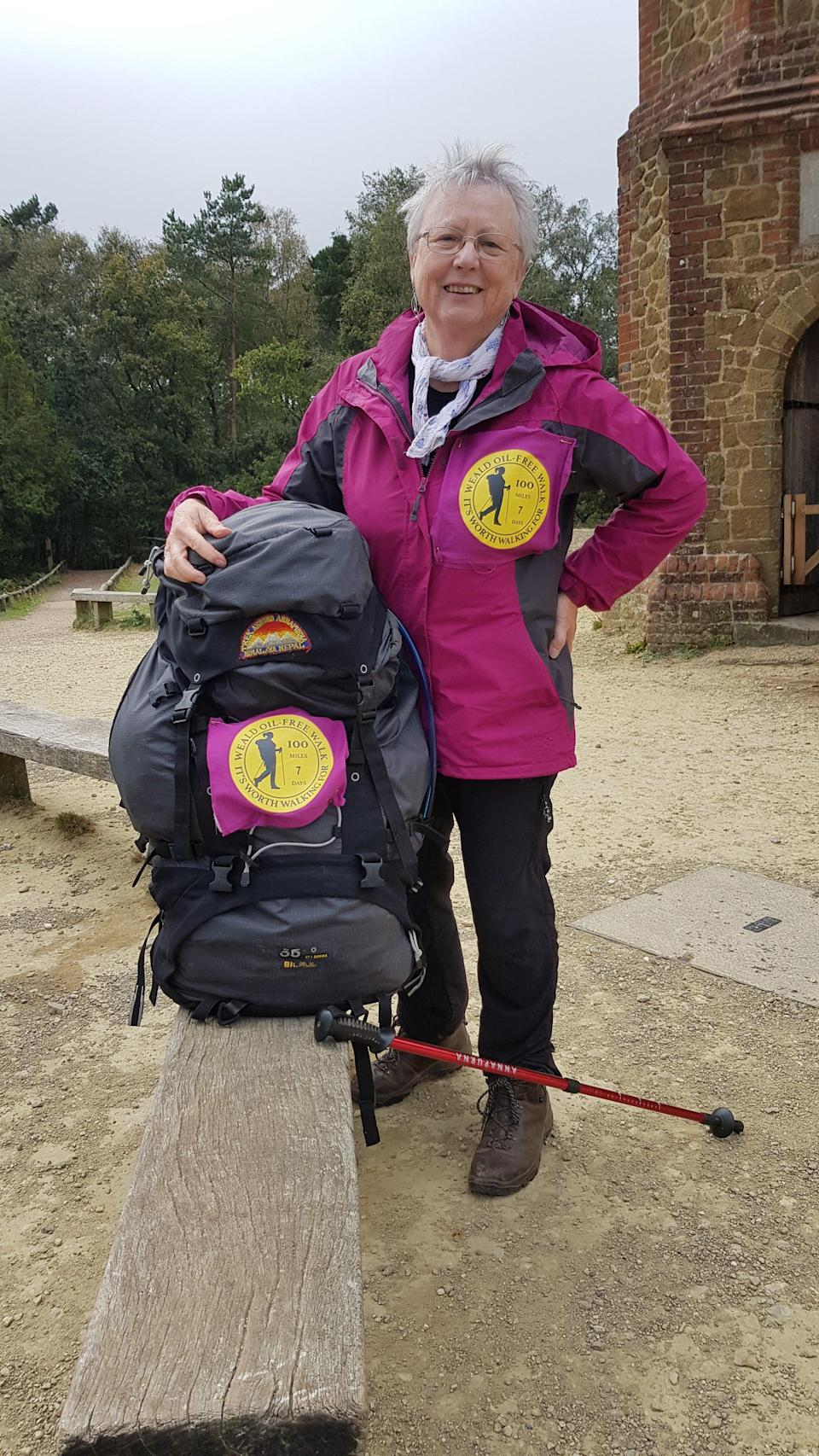 Pat Smith on her sponsored walk in September 2020Supplied by Sarah Finch