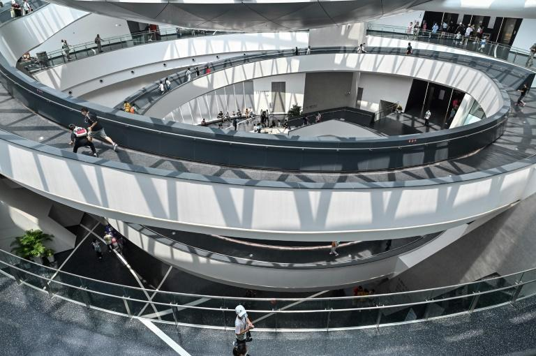 The building was designed by New York's Ennead Architects and resembles a union of swirling galaxies