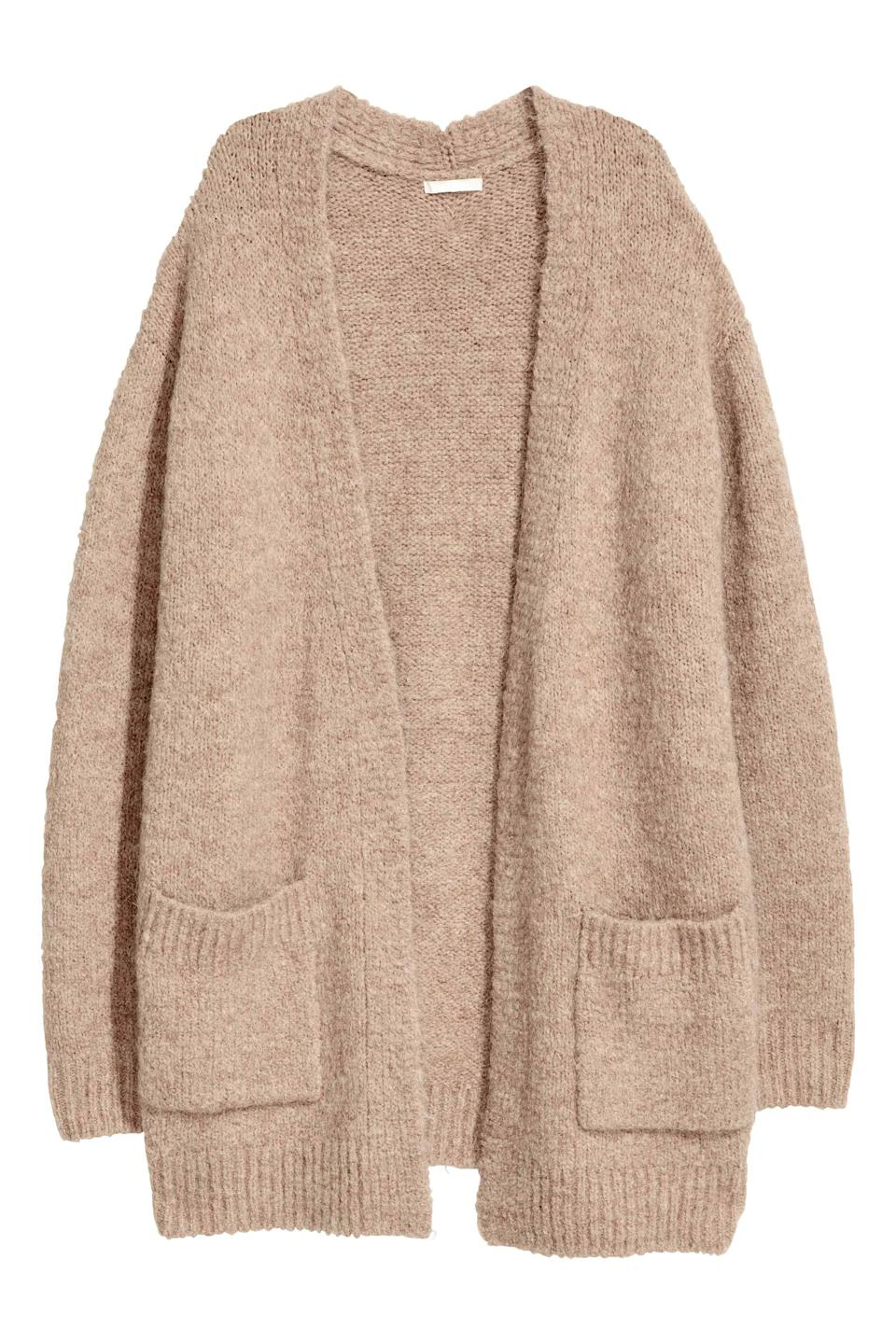 """<p>When dressing this autumn, make sure to layer up. We'll be teaming this oatmeal-hued knit with a crisp white shirt and checked coat. Don't forget the loafers! <em><a rel=""""nofollow noopener"""" href=""""http://www2.hm.com/en_gb/productpage.0519773002.html"""" target=""""_blank"""" data-ylk=""""slk:H&M"""" class=""""link rapid-noclick-resp"""">H&M</a>, £24.99</em> </p>"""