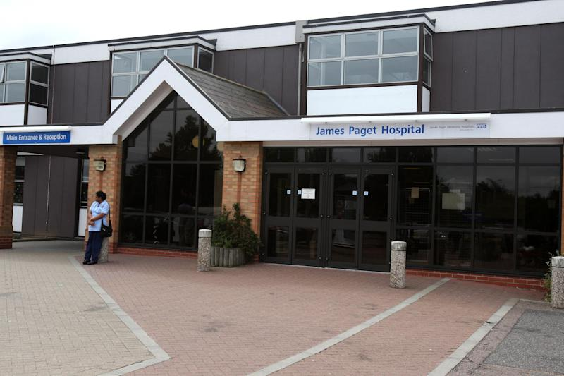 The James Paget University Hospital in Gorleston, Norfolk.