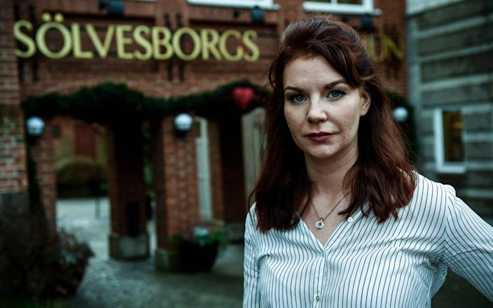 Louise Erixon of the Sweden Democrats is Council Chairman in the city of Solvesborg, South Sweden - TT News Agency