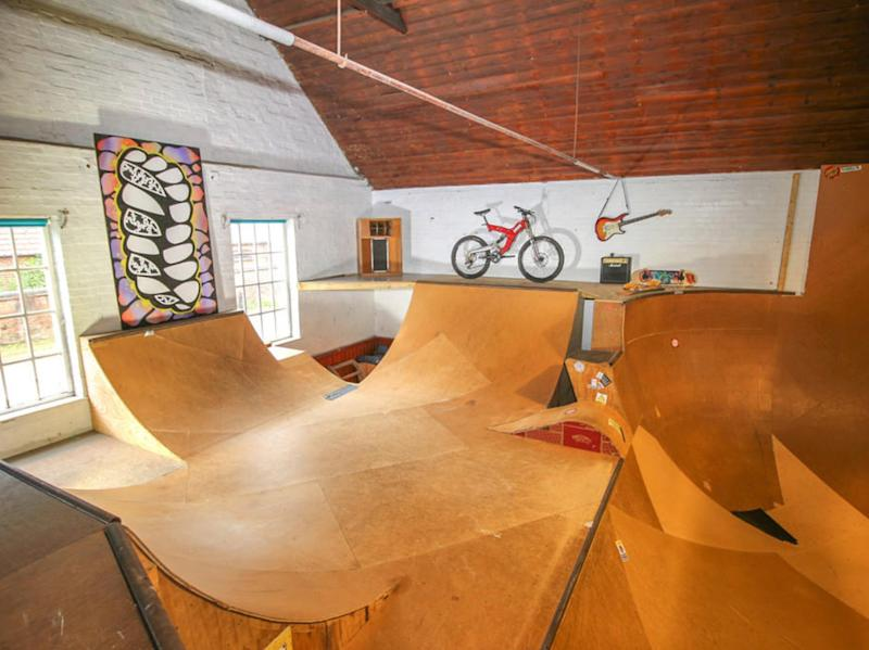Three-bedroom house with indoor skate park on sale for £240,000