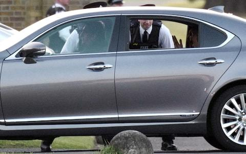 The Clooneys arrive at Frogmore House - Credit: w8media