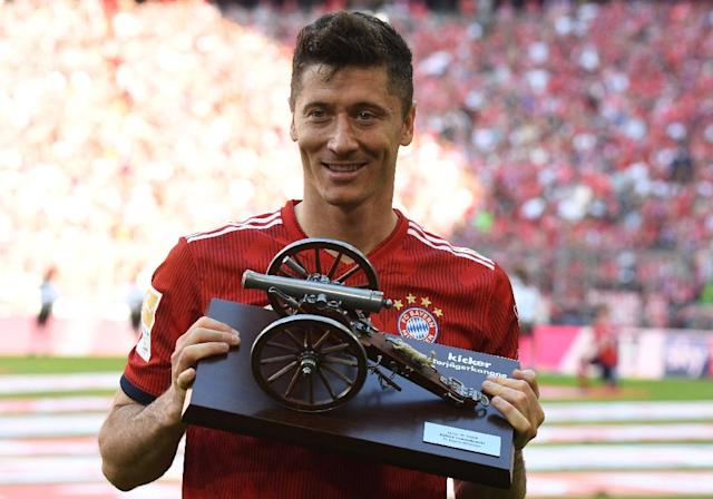 Bayern Munich's Polish forward Robert Lewandowski, the top-scorer in the Bundesliga last season, reportedly wants to leave to seek a 'new challenge'. (AFP Photo/Christof STACHE )