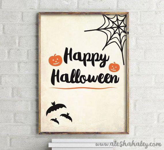 """<p>Print and frame these signs to crate a gallery wall to enliven your home and delight your trick or treaters, party guests — and especially yourself, all October long. </p><p><em><a href=""""http://aleshahaley.com/free-halloween-printables-freebies-alesha-haley/"""" rel=""""nofollow noopener"""" target=""""_blank"""" data-ylk=""""slk:Get the printable at Alesha Haley »"""" class=""""link rapid-noclick-resp"""">Get the printable at Alesha Haley »</a></em></p>"""