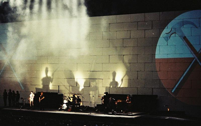 Pink Floyd perform The Wall at Earls Court, London, 1981.   Pete Still/Redferns