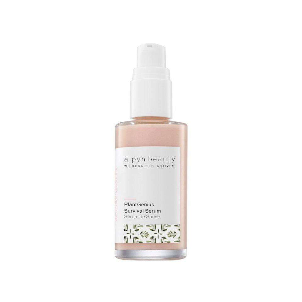 "<h3>Alpyn Beauty PlantGenius Survival Serum</h3><br>Not just any plants can survive the unforgiving climate of Jackson Hole, Wyoming, where the high altitude and dry air create extreme weather conditions that are difficult at best. The ones that <em>have</em> learned to flourish get funneled (sustainably, of course) into this lotion-like serum, which uses the area's hardest-working, highly-resilient botanicals — like borage, calendula, sage, and licorice root — to hydrate and brighten dry, lackluster skin.<br><br><strong>Alpyn Beauty</strong> PlantGenius Survival Serum, $, available at <a href=""https://go.skimresources.com/?id=30283X879131&url=https%3A%2F%2Fcredobeauty.com%2Fcollections%2Fnew-at-credo%2Fproducts%2Fplantgenius-survival-serum"" rel=""nofollow noopener"" target=""_blank"" data-ylk=""slk:Credo"" class=""link rapid-noclick-resp"">Credo</a>"