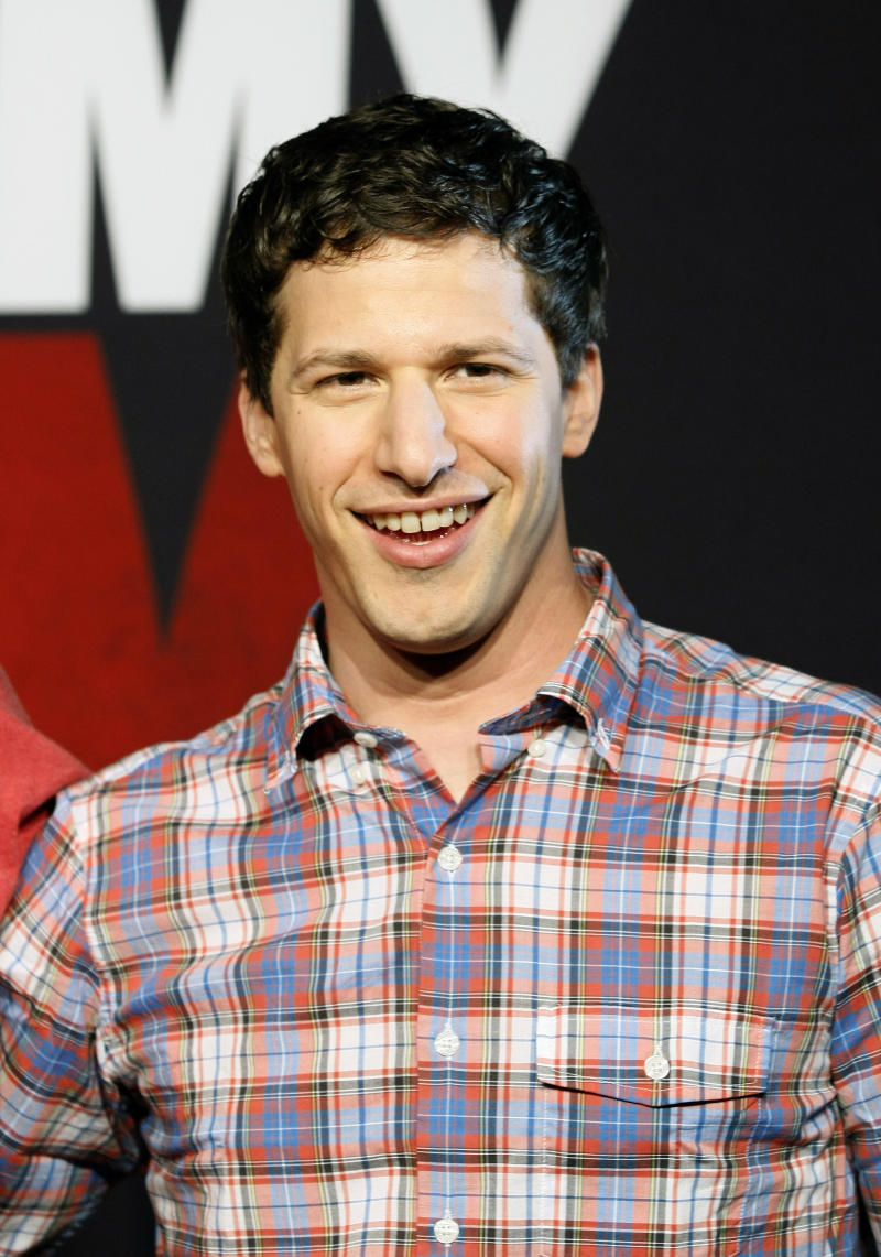 """FILE - This April 16, 2012 file photo, shows actor Andy Samberg promoting his film, """"That's My Boy"""", at the Summer of Sony 4 Spring Edition photo call in Cancun, Mexico. Samberg's publicist says he is leaving """"Saturday Night Live.""""  (AP Photo/Alexandre Meneghini, file)"""