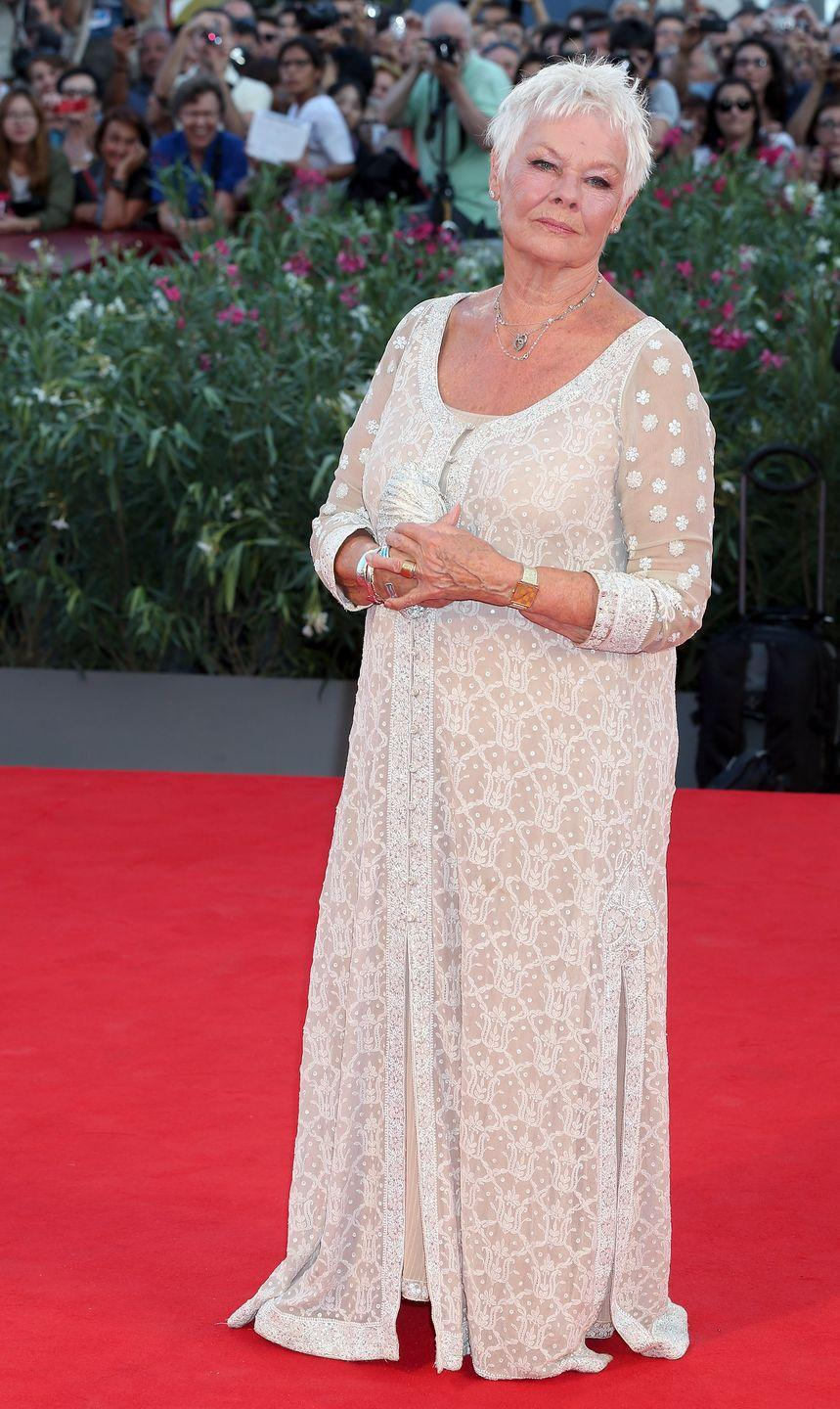 <p>Dench walks the red carpet for the premiere of <em>Philomena </em>at the 70th Venice International Film Festival in Italy.</p>