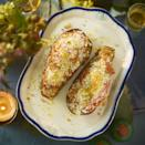 """<p>Tinned lentils and fresh veggies make for a thrifty yet delicious meat free main.</p><p><strong>Recipe: <a href=""""https://www.goodhousekeeping.com/uk/food/recipes/a29366854/lentil-stuffed-aubergine/"""" rel=""""nofollow noopener"""" target=""""_blank"""" data-ylk=""""slk:Lentil Stuffed Aubergine"""" class=""""link rapid-noclick-resp"""">Lentil Stuffed Aubergine</a></strong></p>"""