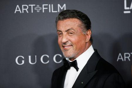 FILE PHOTO: Actor Sylvester Stallone poses at the LACMA Art+Film Gala in Los Angeles