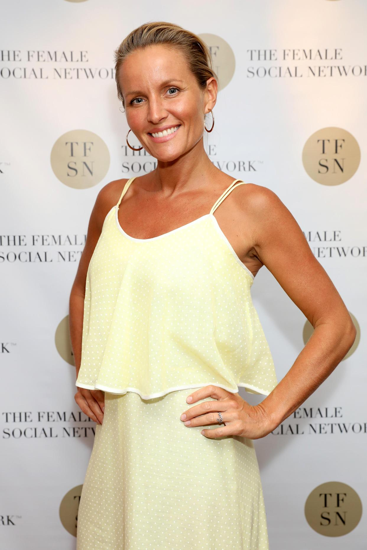 LONDON, ENGLAND - JUNE 26: Davinia Taylor attends the UK launch of The Female Social Network at The Ivy on June 26, 2019 in London, England. (Photo by David M. Benett/Dave Benett/Getty Images for The Female Social Network (TFSN))