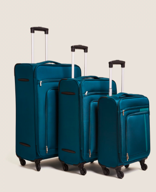 "<p>Planning a trip abroad next year? These three suitcases in teal are perfect to get your hands on. With a lightweight design, a secure zipper and a TSA lock, they tick all the right boxes. </p><p><strong>WAS</strong>: £200</p><p><a class=""link rapid-noclick-resp"" href=""https://go.redirectingat.com?id=127X1599956&url=https%3A%2F%2Fwww.marksandspencer.com%2Fjasper-set-of-3-soft-suitcases%2Fp%2Fhbp60292795&sref=https%3A%2F%2Fwww.countryliving.com%2Fuk%2Fhomes-interiors%2Finteriors%2Fg34768938%2Fmarks-and-spencer-black-friday%2F"" rel=""nofollow noopener"" target=""_blank"" data-ylk=""slk:BUY NOW, M&S"">BUY NOW, M&S</a></p>"