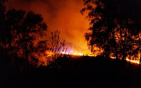 Firefighters tackle the Ashdown Forest blaze - Credit: SEUK/Abel/Mitchell
