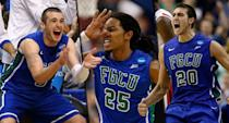 <p><span>Then: Brett Comer, Sherwood Brown and Chase Fieler (from l. to r.) became the darlings of the 2013 tournament, as Florida Gulf Coast dunked all over Georgetown – hence the nickname – in a No. 15 over No. 2 upset on the first weekend. They advanced all the way to the Sweet Sixteen, where they lost to the No. 3 Florida Gators.</span><br><span>Now: Comer, after some stretches in pro ball, spent the 2017-18 season as a graduate assistant at Dayton while both Brown and Fieler are playing overseas, in Belgium and Lebanon, respectively.</span> </p>
