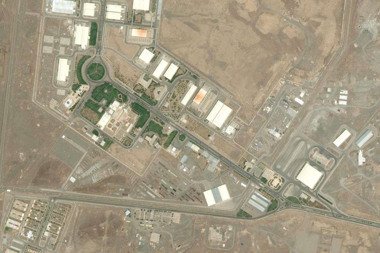 An aerial view of the Natanz fuel enrichment plant. (Photo: DigitalGlobe via Getty Images)