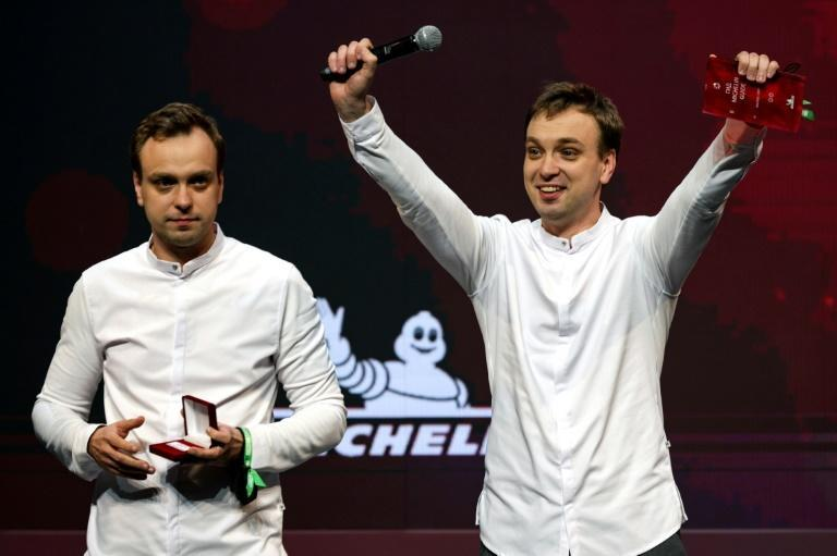 Twins Garden run by twin brothers Ivan and Sergei Berezutskiy was given two stars as Michelin released its first Moscow restaurants guide (AFP/Dimitar DILKOFF)