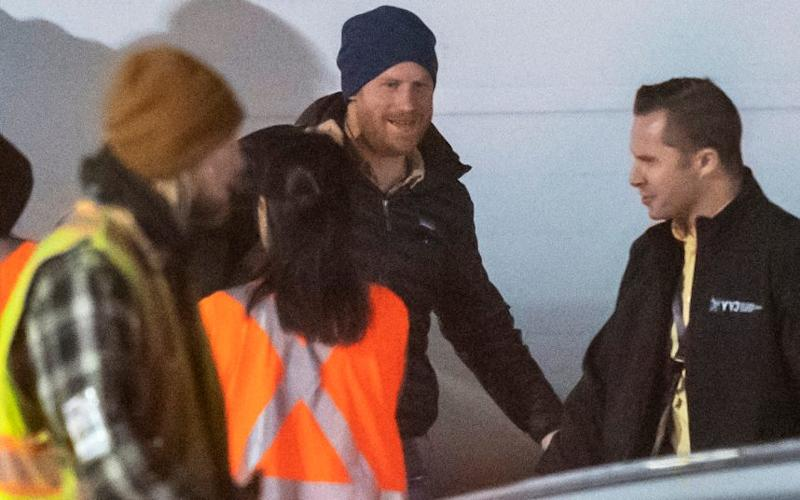 Prince Harry arrives at Vancouver International Airport early today - Paul Grover