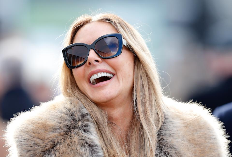 Carol Vorderman attends the Cheltenham Festival on March 15, 2018. (Photo by Max Mumby/Indigo/Getty Images)