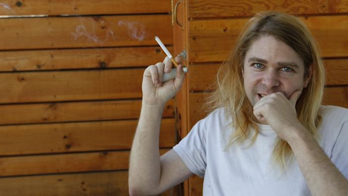 """Ariel Pink poses for a portrait in Los Angeles. His new album, """"pom pom,"""" was released Monday."""