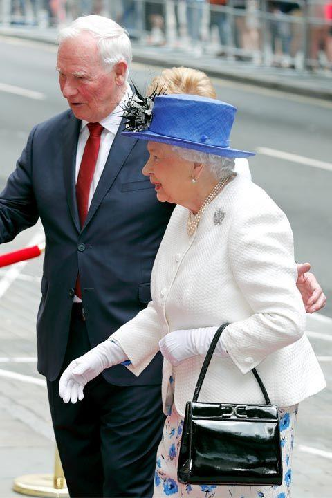 """<p>Protocol says anyone meeting Queen Elizabeth for the first time should wait for her to <a rel=""""nofollow noopener"""" href=""""http://abcnews.go.com/Politics/International/story?id=7228105"""" target=""""_blank"""" data-ylk=""""slk:extend her hand first"""" class=""""link rapid-noclick-resp"""">extend her hand first</a>. And even afterwards, contact should be kept to a minimum. That means <a rel=""""nofollow noopener"""" href=""""http://www.housebeautiful.com/lifestyle/a9021/people-kissing-the-royal-family/"""" target=""""_blank"""" data-ylk=""""slk:hugs and kisses"""" class=""""link rapid-noclick-resp"""">hugs and kisses</a> are a major no no.</p>"""